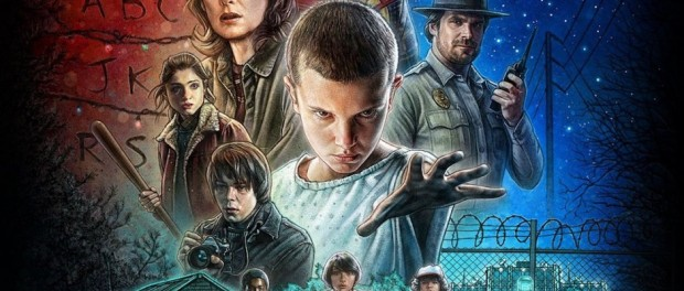 Poster for the show 'Stranger Things'