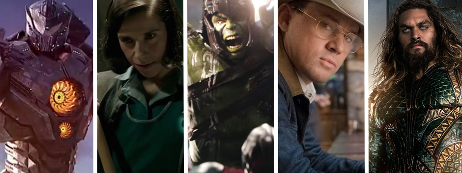 Montage of images from 5 film trailers from Comic Con