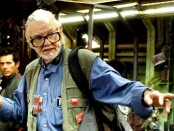 George A Romero on set