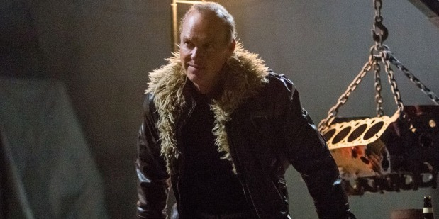 Michael Keaton in character as The Vulture