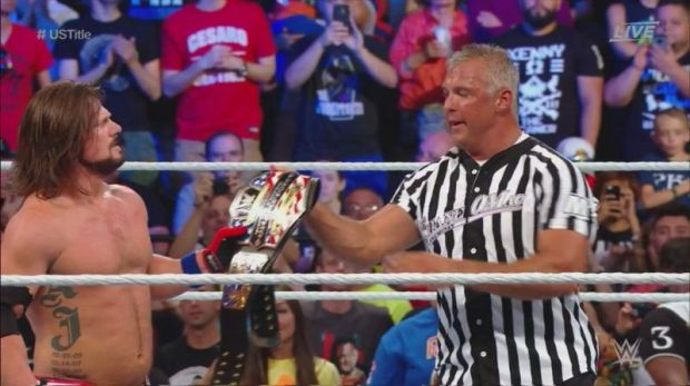 Shane hands AJ the title