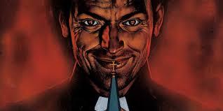 Smirking Preacher form the comic