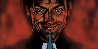 Smirking Preacher form the comic