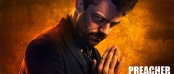 Image of the Preacher looking evil with hands clasped in prayer.