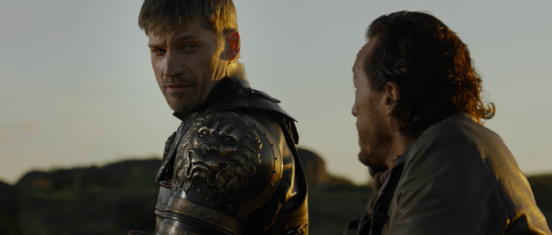 Jamie Lannister looking quizzically at Brown