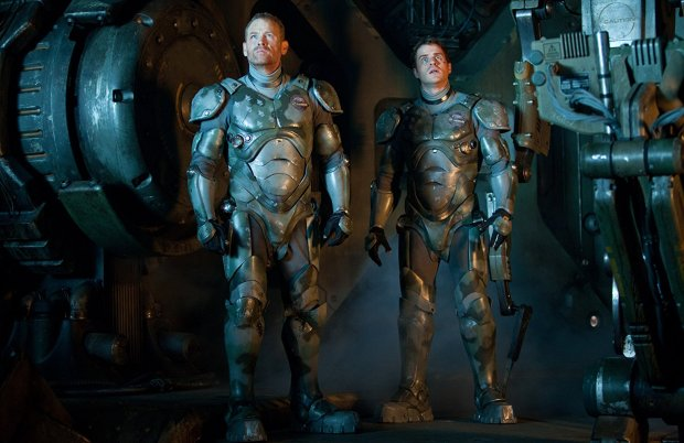 Max Martini and Robert Kazinski as Chuck and Herc Hansen in Pacific Rim