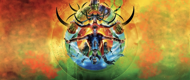 Thor Ragnarok collage of characters