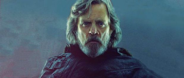 Luke Skywalker in black robes.