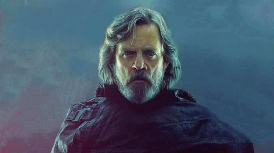 Luke Skywalker in black robes.