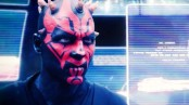 Darth Maul examining his holoscreens in search of Jedi to kill.