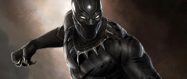 The Black Panther in full costume