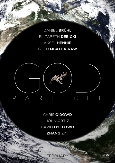 "The original poster for the film when it was titled ""God Particle"""