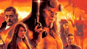 Movie poster art featuring Hellboy at the centre and various members of the BPRD.