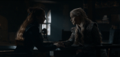 Sansa and Danerys sharing a tender moment