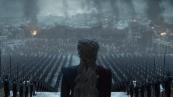 Danaerys Targaryan addressing her troops.