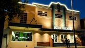 The art deco facade of Nowra's Roxy Theatre