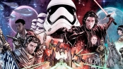 Collage from Marvel comics of all main characters in the final star wars trilogy