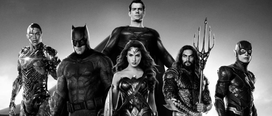 The Justice League, Cyborg,, Batman, Superman, Wonder Woman, Aquaman and the Flash